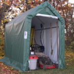 Portable Motorcycle Garage, 5 x 10 x 8, Motorcycle Shelter With Floor
