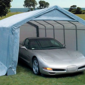 10x20x8 House Style Instant Garage | Rhino Shelters