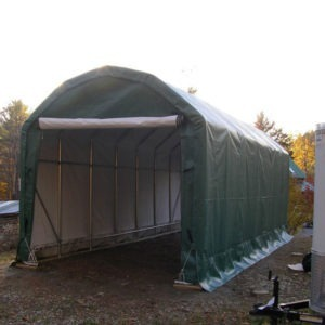 12x20x10 Barn Style Instant Garage | Rhino Shelters