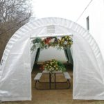 Car Shelter Greenhouse, 12 x 24 x 8, Round Style