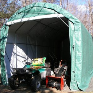 12x28x12 Extended Barn Style Instant Garage | Rhino Shelters