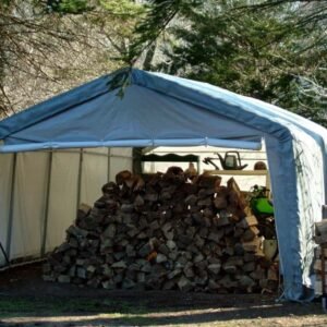Outdoor Storage Tent, Canvas Storage Sheds, 12 x 12 x 8