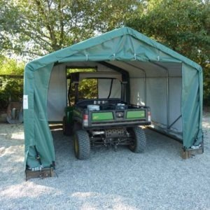 10x15x8 House Style Storage Shed | Rhino Shelters
