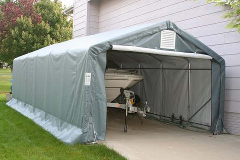 Portable Garage Shed, Garage Tent For Sale, 12'W x 24'L x ...