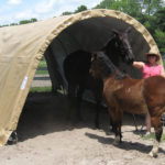Portable Shelter For Livestock, 12 x 20 x 8, Round Style