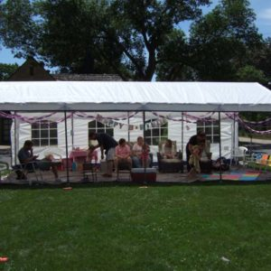 White Outdoor Party Tent, 14 x 27 x 9, House Style