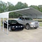 large heavy duty steel carport