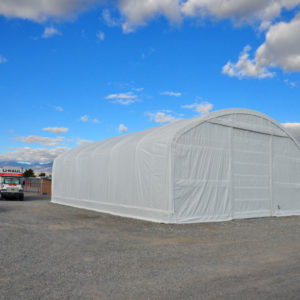 Heavy Duty Portable Shelter, 40 x 60 x 18, Round