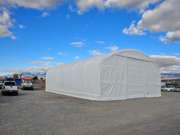 Heavy Duty Portable Shelter, 40 x 60 x 18, Round
