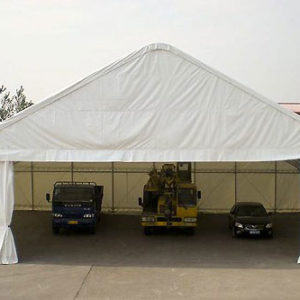 65x49x26 Peaked Truss Portable Building | Rhino Shelters