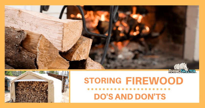 Storing Firewood: Do's and Don'ts | Rhino Shelters CT 06460