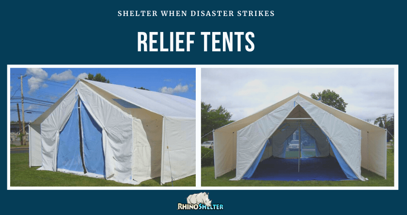Relief Tents Provide Shelter When Disaster Strikes